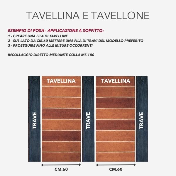 Tavellina Colore Cotto - Tavellina in polistirene - Decorget - Ital Decori - Image 2
