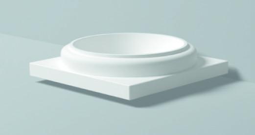 Base Toscana Bt 1 - Base in poliuretano bianco