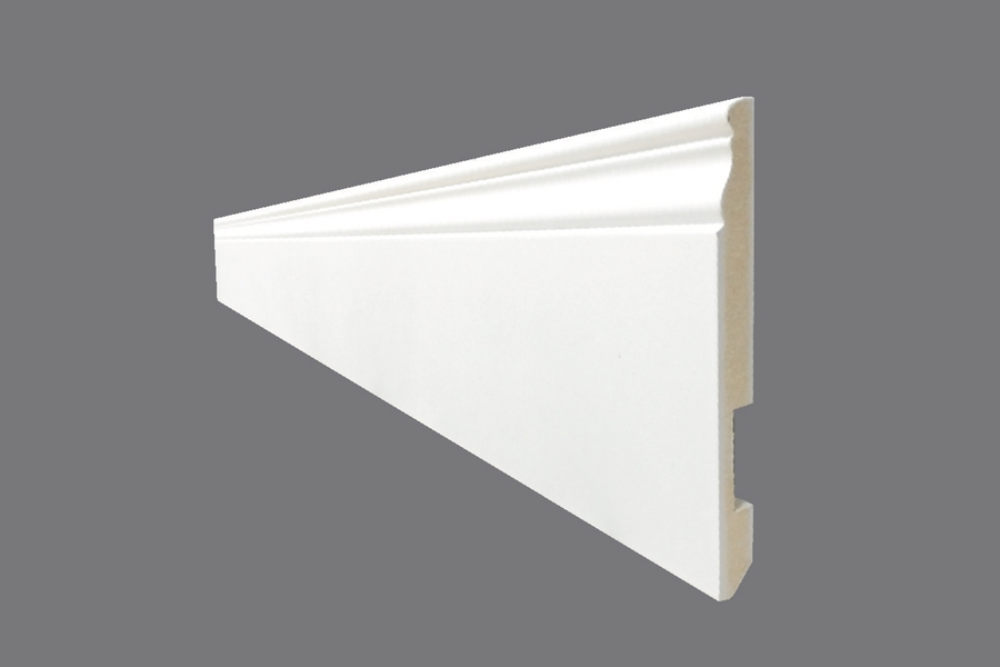 Battiscopa EH 14 - Battiscopa in MDF Light bianco