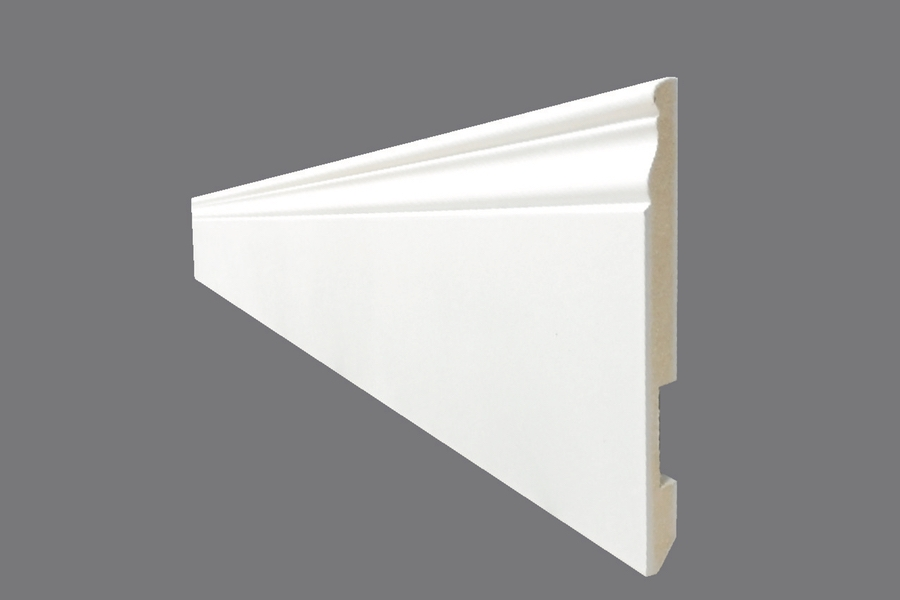 Battiscopa EH 18 - Battiscopa in MDF Light bianco