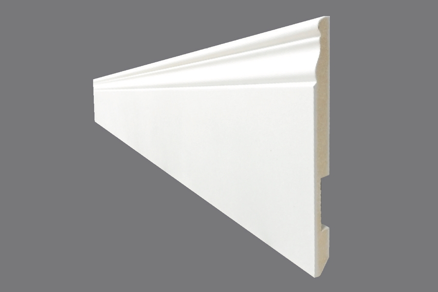 Battiscopa EH 24 - Battiscopa in MDF Light bianco