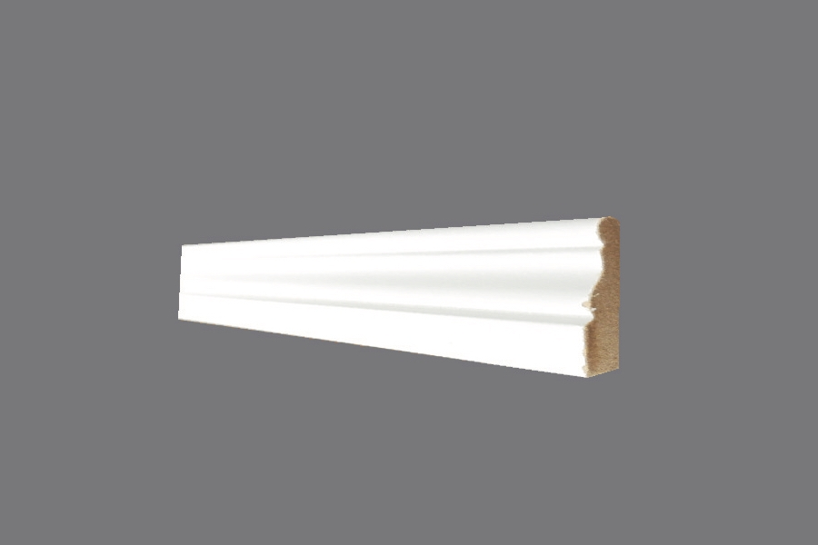 Battiscopa EH 5 - Battiscopa in MDF Light bianco