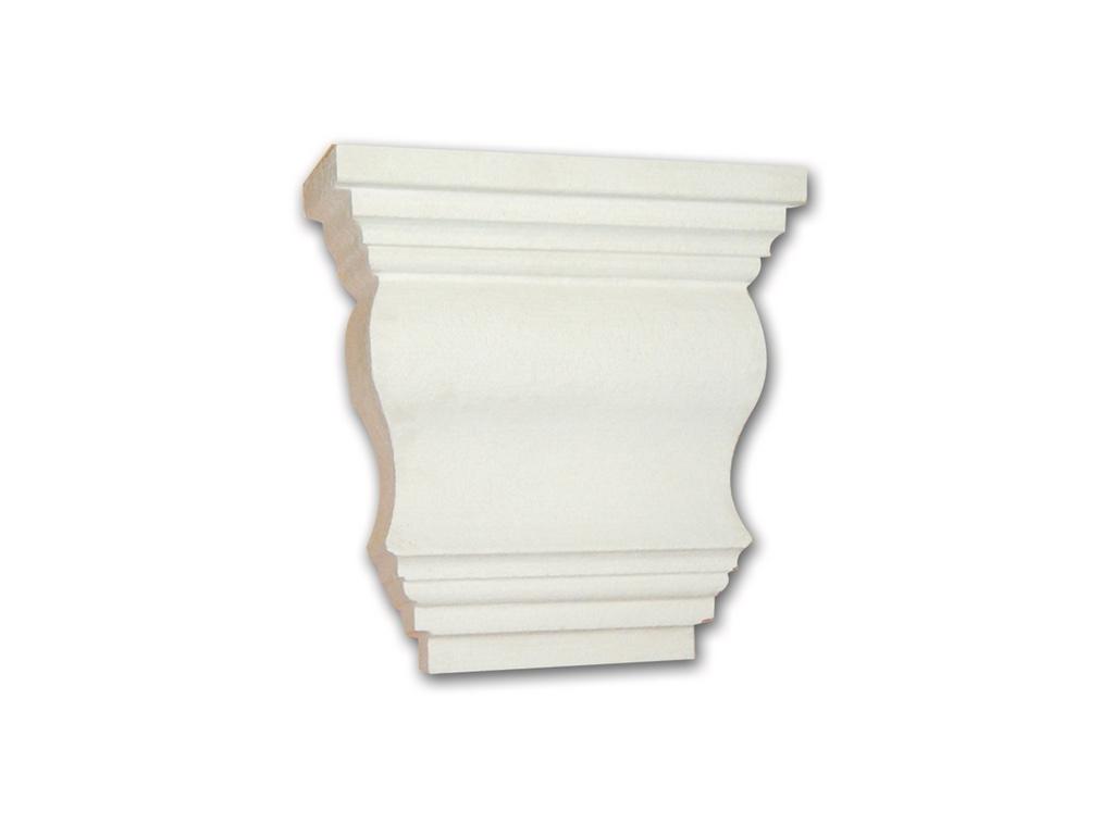 Capitello Piano Bianco Piccolo - Capitello in polistirene gessato