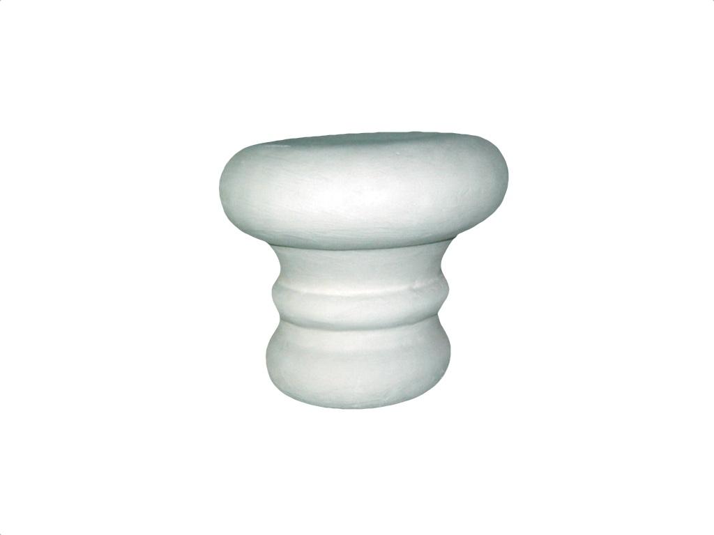 Capitello Tondo Dorico Per Diametro 18 - Capitello in polistirene gessato
