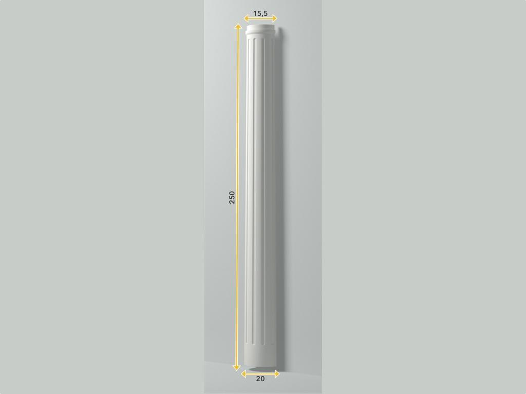 Colonna Hfs 1 - Colonna in poliuretano bianco