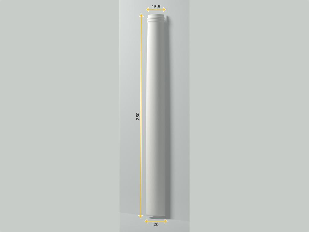 Colonna Hss 1 - Colonna in poliuretano bianco