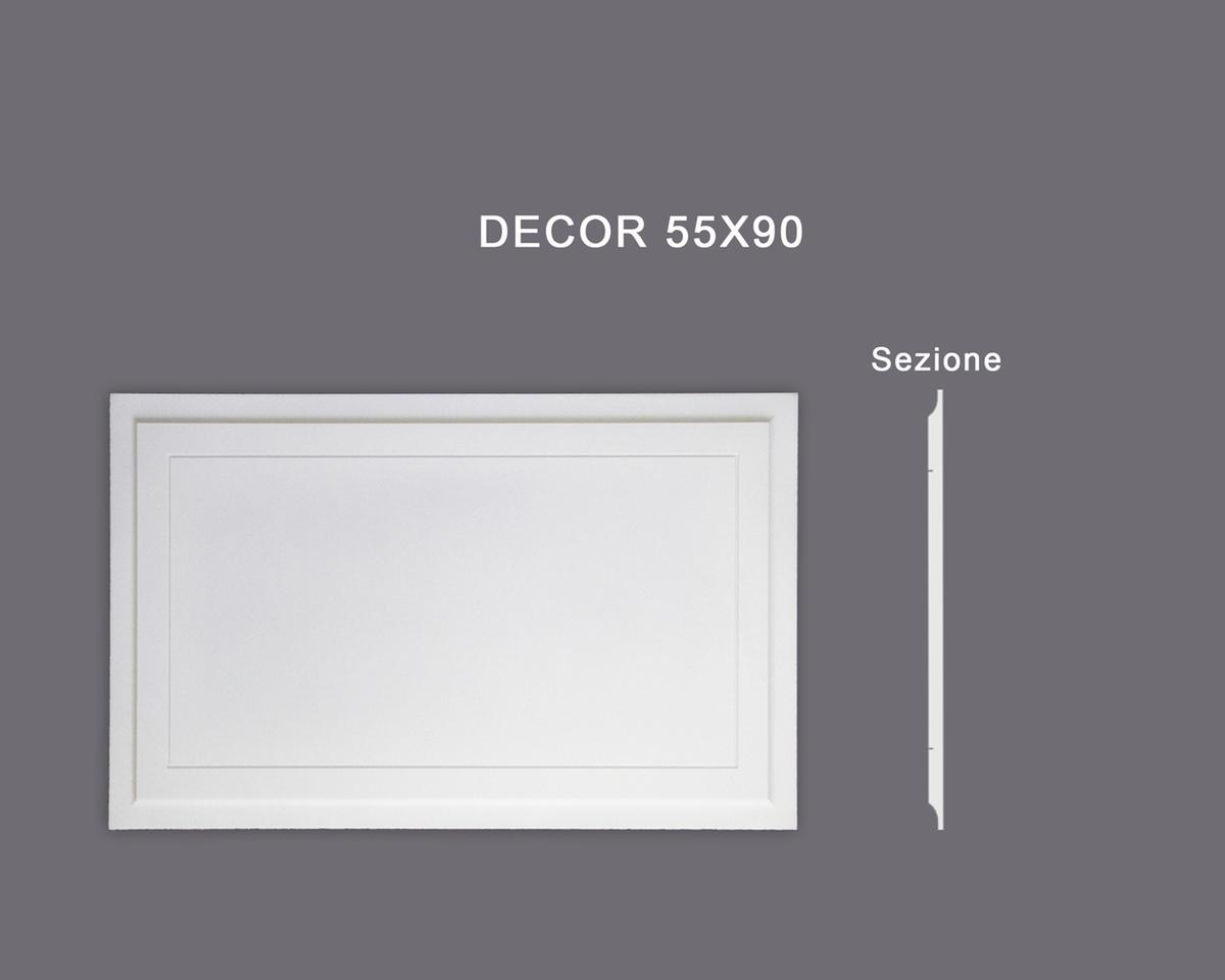 Decor 55x90 - Pannello in MDF Light bianco