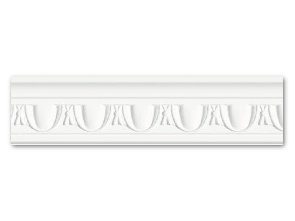 Dm 352 - Profilo in polistirene stampato bianco