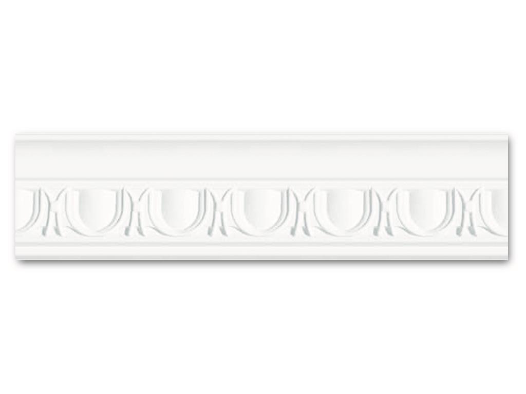 Dm 551 - Profilo in polistirene stampato bianco