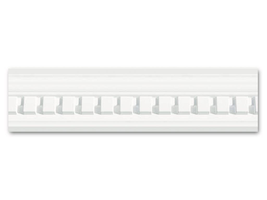Dm 601 - Profilo in polistirene stampato bianco