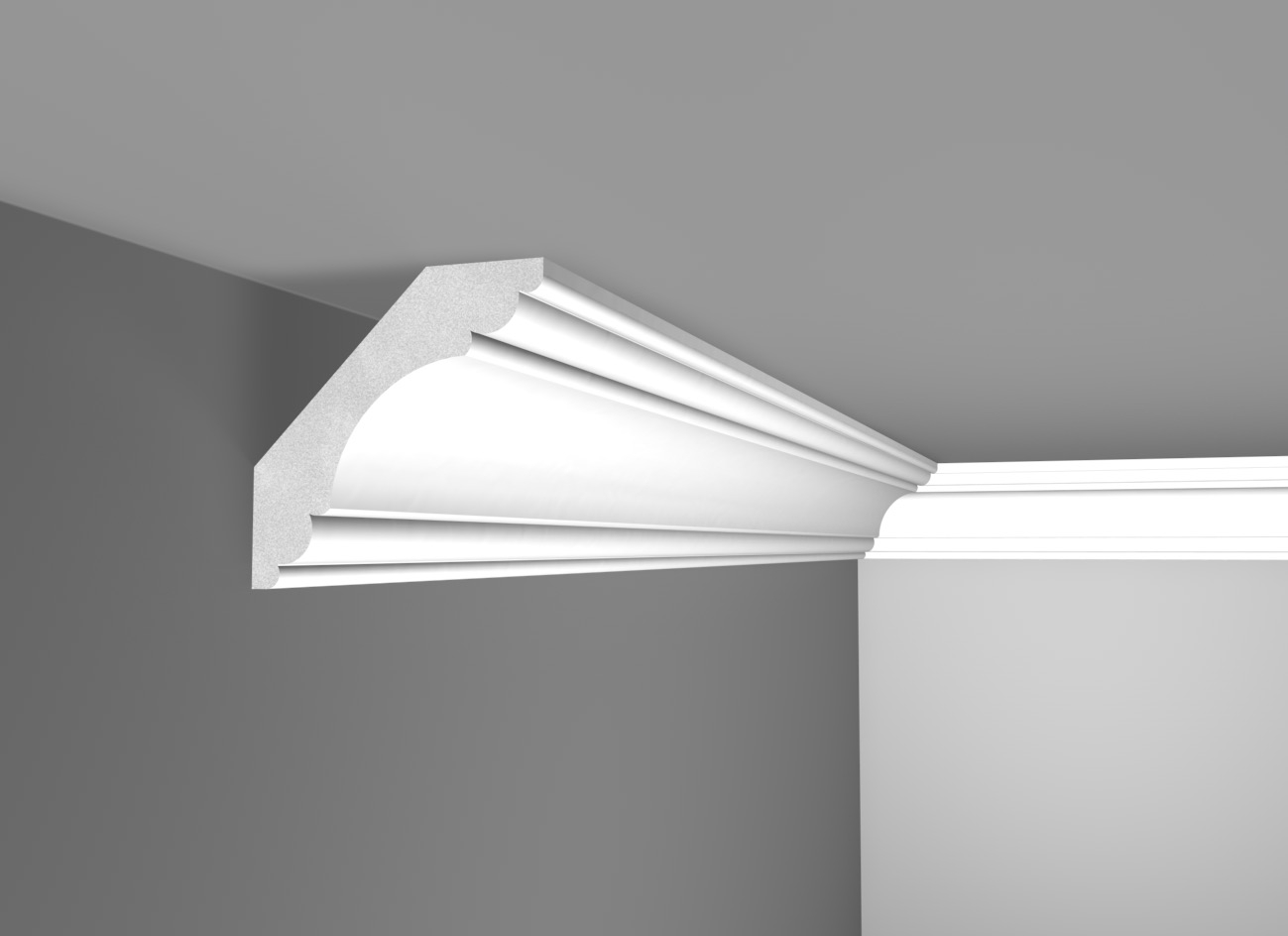 G 101 - Cornice in polistirene gessato bianco