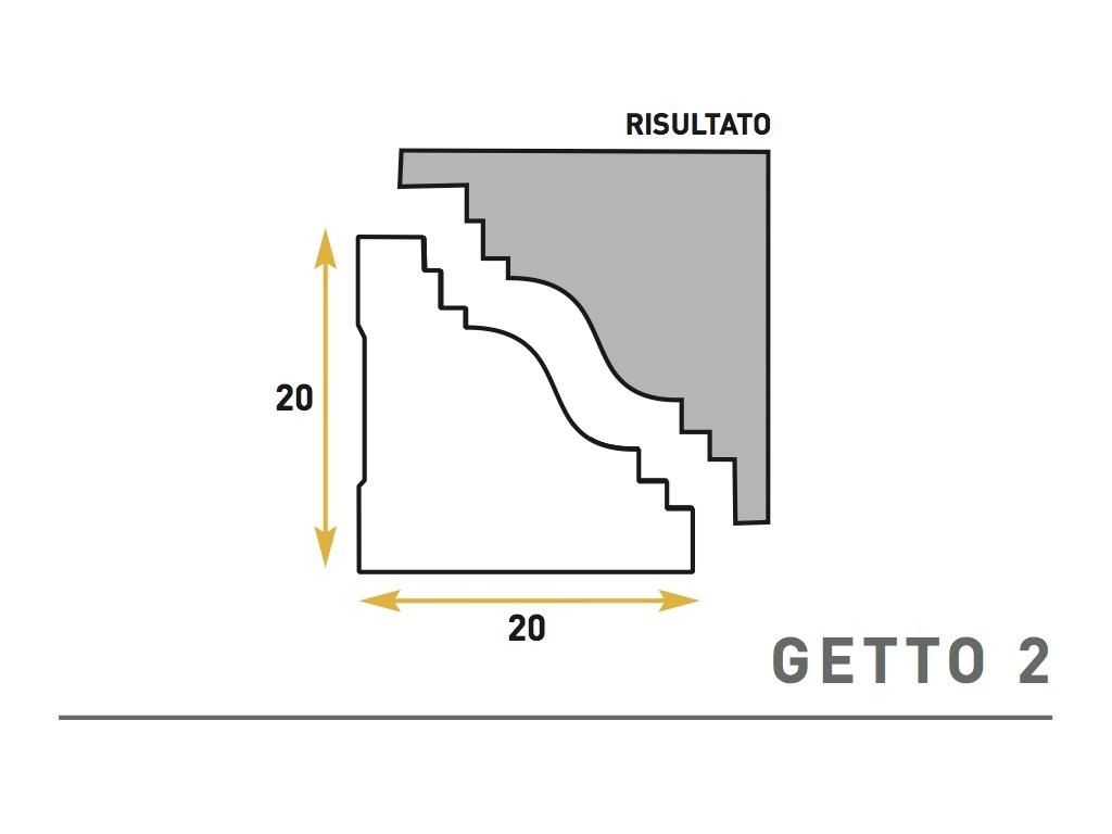 Getto 2 - Cornice sagomata in polistirene espanso