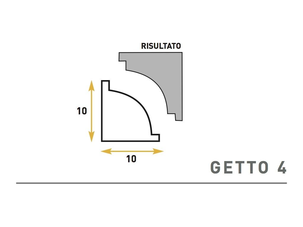 Getto 4 - Cornice sagomata in polistirene espanso