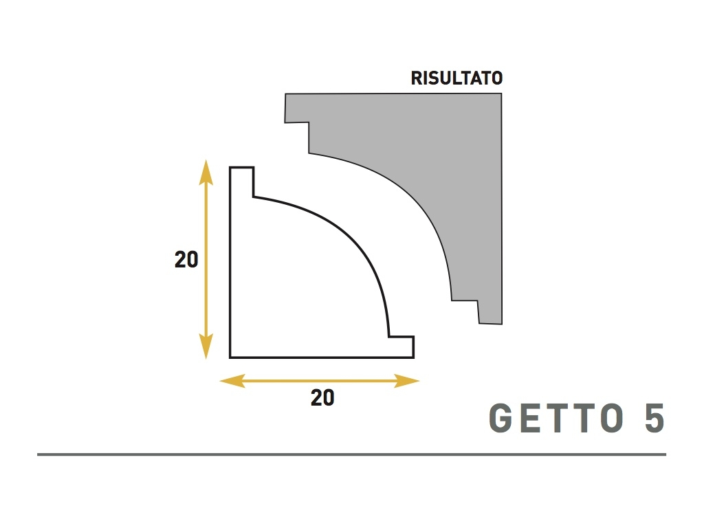 Getto 5 - Cornice sagomata in polistirene espanso