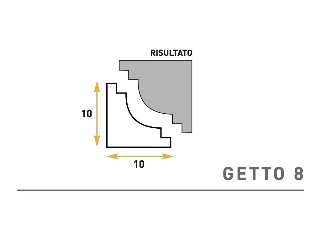 Getto 8 - Cornice sagomata in polistirene espanso