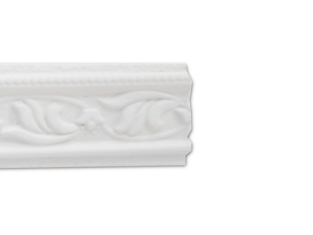 Giglio Piano Bianco - Cornice in polistirene gessato bianco