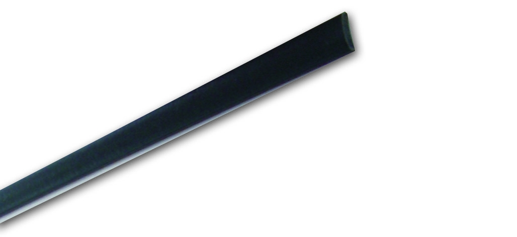 Listello Ln 28 Nero - Listello in PVC