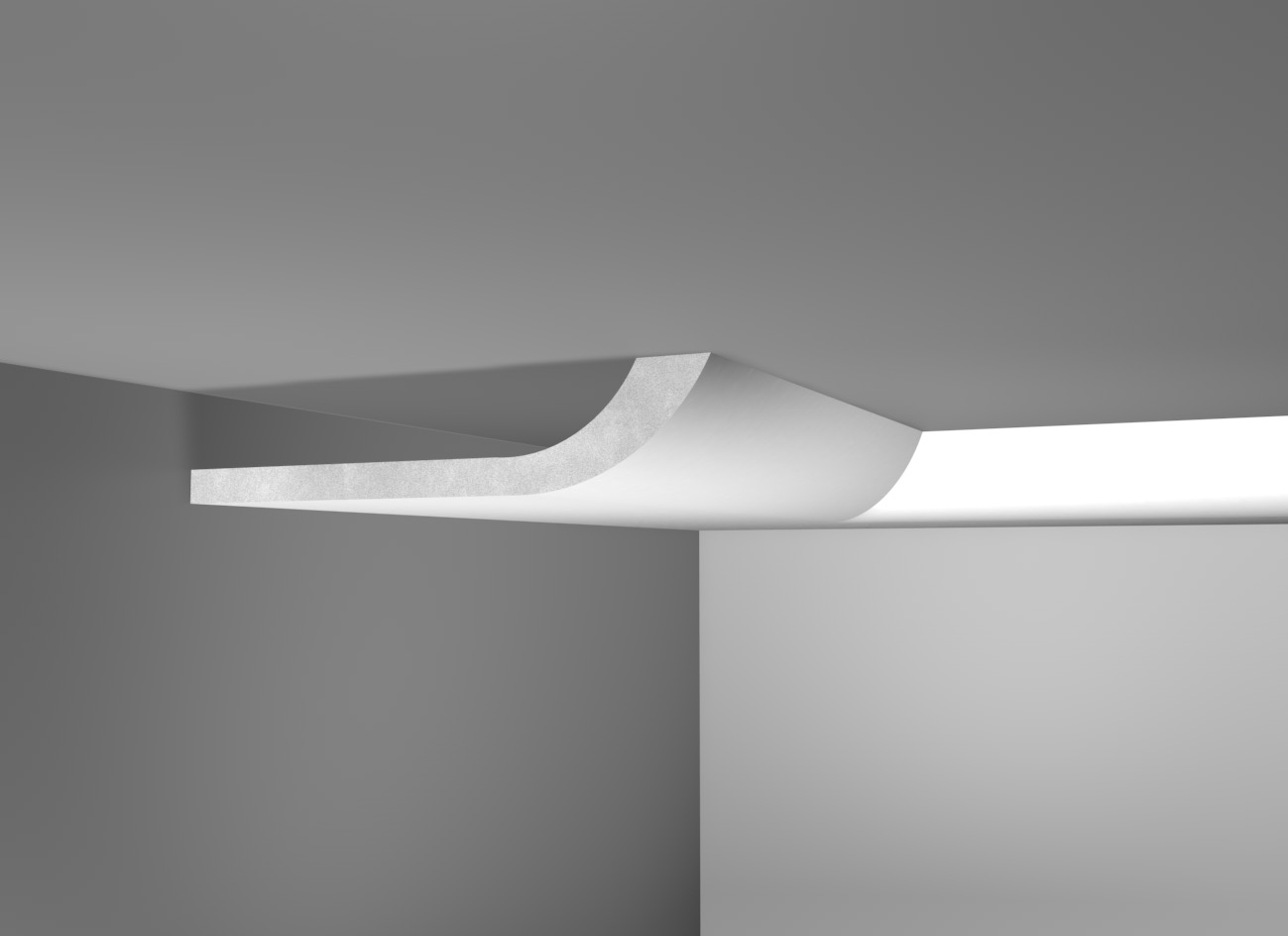 Lux 50 - Cornice in polistirene gessato bianco