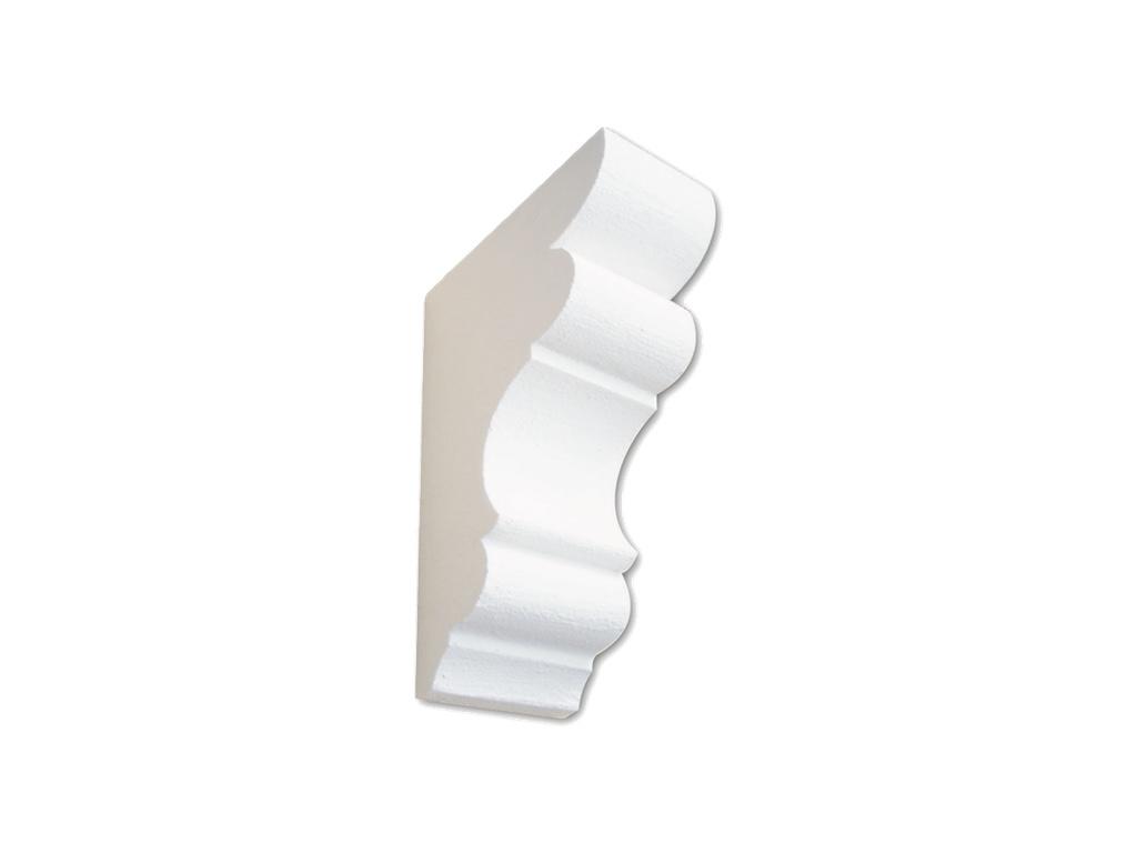 Mensola Midi Bianca - Mensola in polistirene gessato