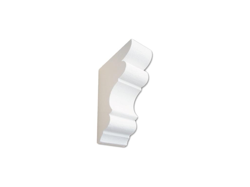 Mensola Mini Bianca - Mensola in polistirene gessato