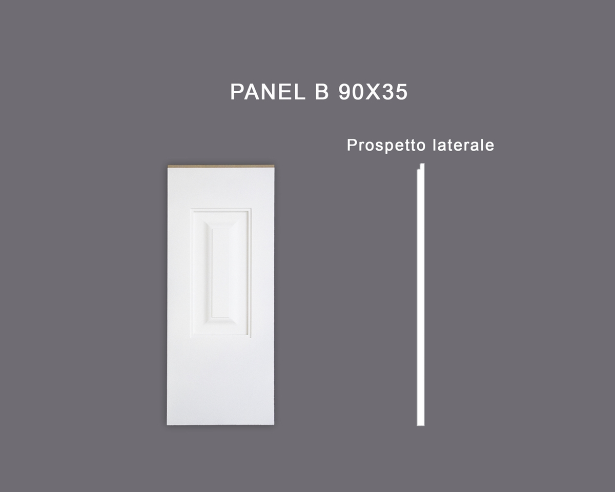 Panel B 90x35 - Pannello in MDF Light bianco