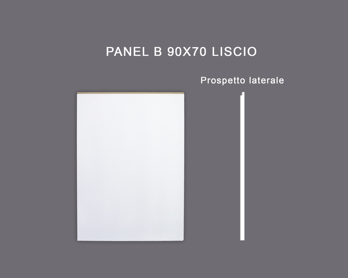 Panel B 90x70 liscio - Pannello in MDF Light bianco