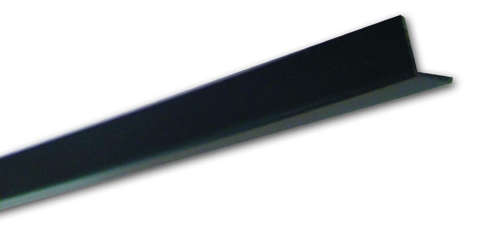 Pn 20 Nero Liscio - Paraspigolo in PVC - Decorget - Ital Decori