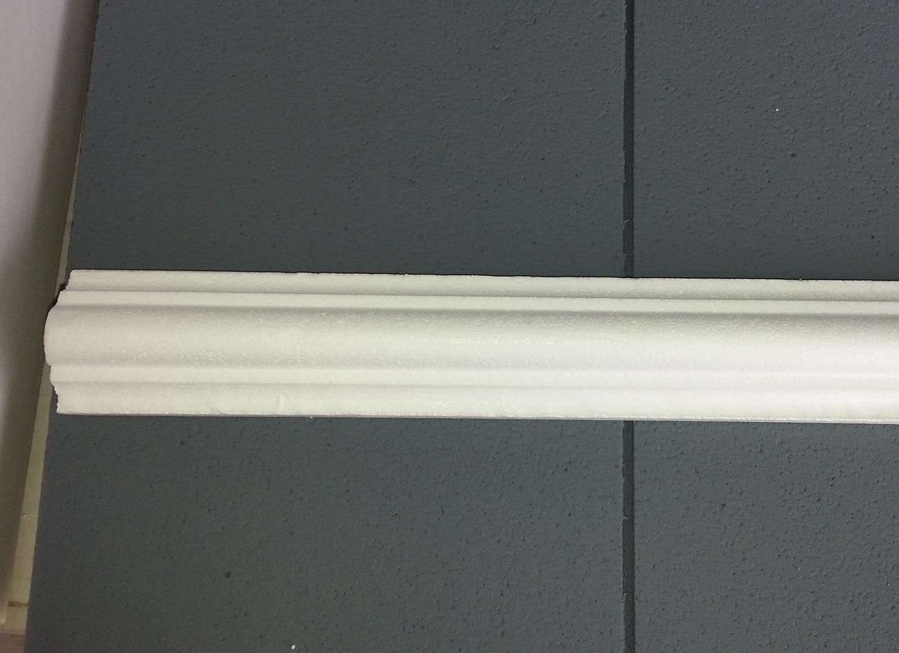 Profilo 6 - Profilo in polistirene stampato bianco