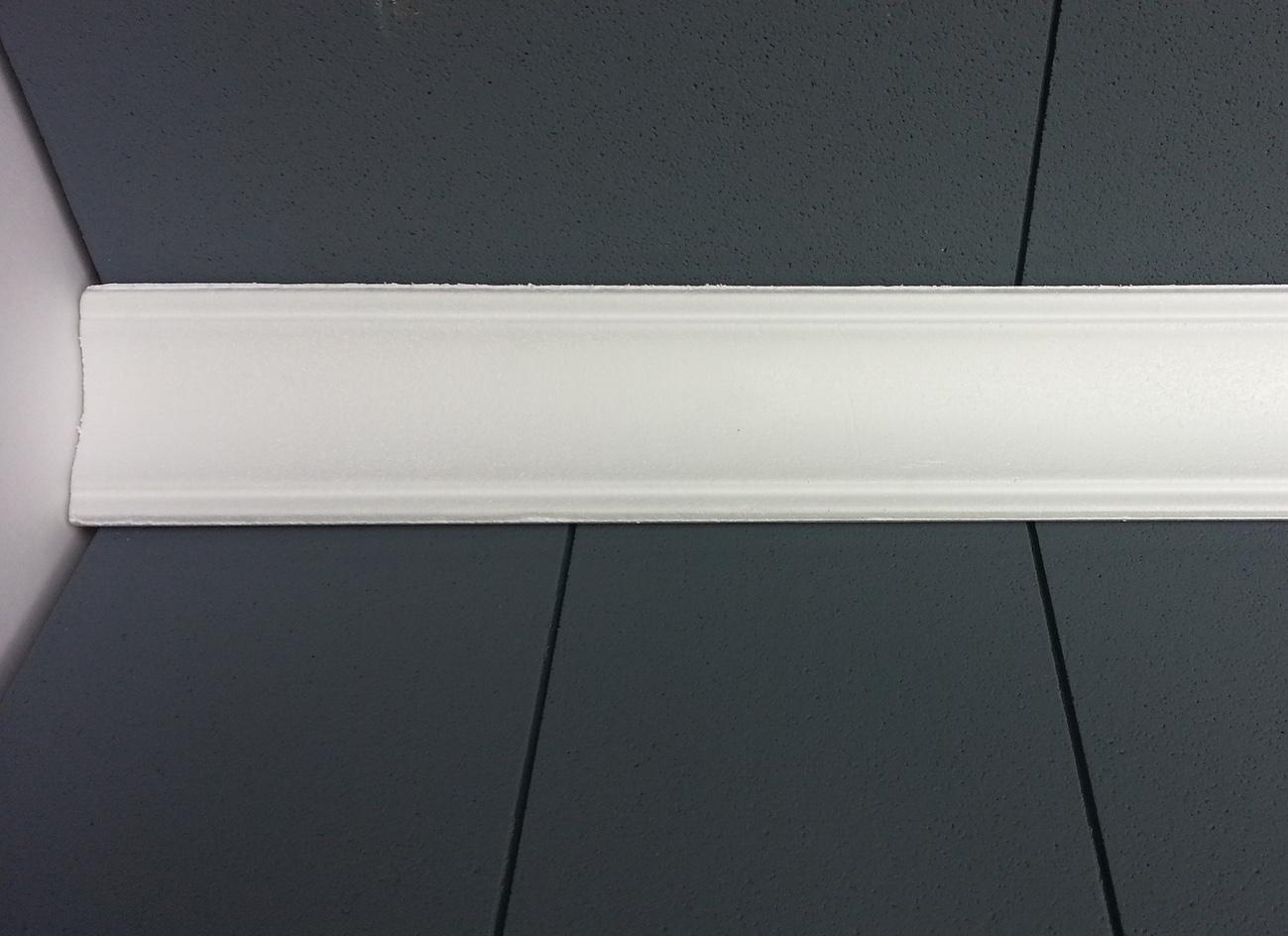 Profilo 7 - Profilo in polistirene stampato bianco