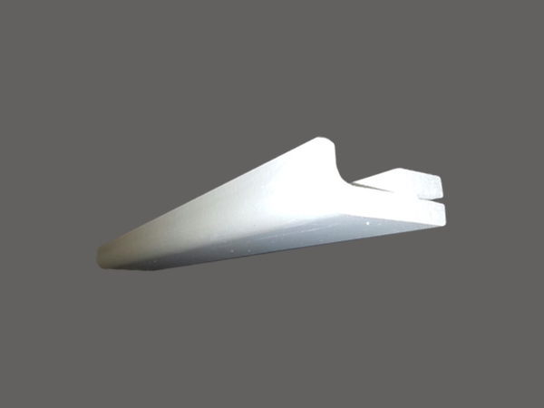 Veletta 2 - Veletta cornice in polistirene gessato bianco