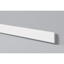 Bat 9 - Battiscopa in polimero bianco