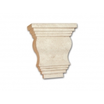 Capitello Piano Anticato Grande - Capitello in polistirene gessato colore anticato