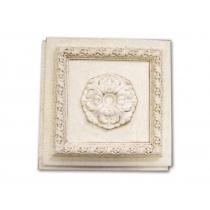 Cassettonato Anticato Con Rosone - Cassettonato in polistirene stampato
