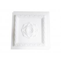 Cassettonato Bianco Grezzo Con Rosone - Cassettonato in polistirene stampato
