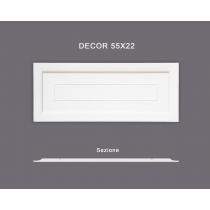 Decor 55x22 - Pannello in MDF Light bianco