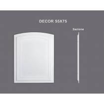 Decor 55x75 - Pannello in MDF Light bianco