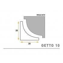 Getto 10 - Cornice sagomata in polistirene espanso