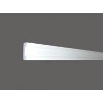 Led 13 - Veletta cornice in polistirene gessato bianco