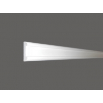 Led 14 - Veletta cornice in polistirene gessato bianco