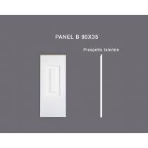 Panel B 90x35 - Pannello in MDF Light bianco