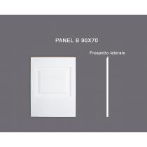 Panel B 90x70 - Pannello in MDF Light bianco