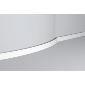 Bat 1 Flex - Battiscopa in polimero bianco