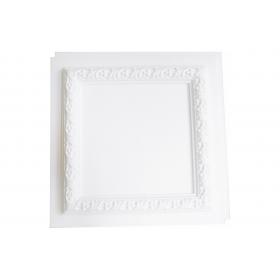 Cassettonato Bianco Grezzo Senza Rosone - Cassettonato in polistirene stampato