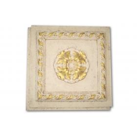 Cassettonato Ottocento Oro - Cassettonato in polistirene stampato