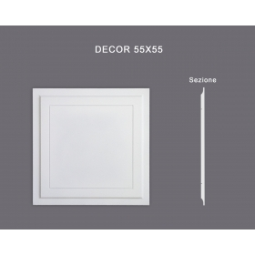 Decor 55x55 - Pannello in MDF Light bianco
