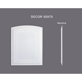 Decor 55x75 - Pannello in MDF Light bianco