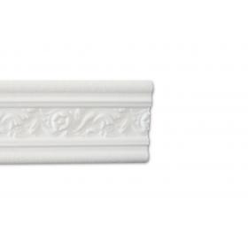 Fiorentino Bianco - Cornice in polistirene gessato bianco