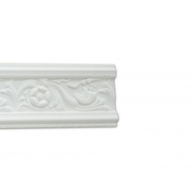 Floreale Bianca - Cornice in polistirene gessato bianco