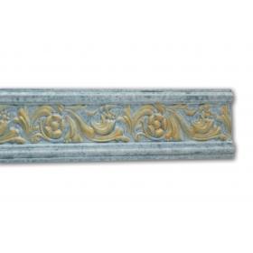 Floreale Blu - Cornice in polistirene serie classica
