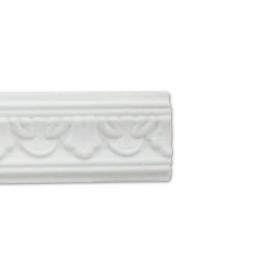 Foglia Bianca - Cornice in polistirene gessato bianco
